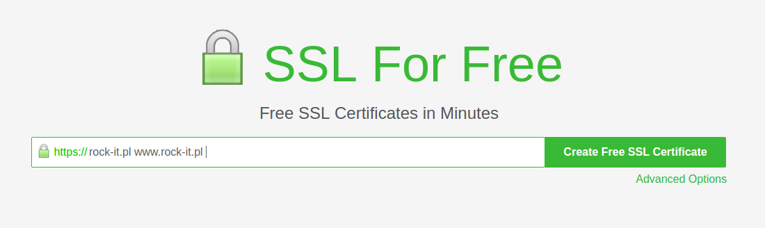 Main page of sslforfree